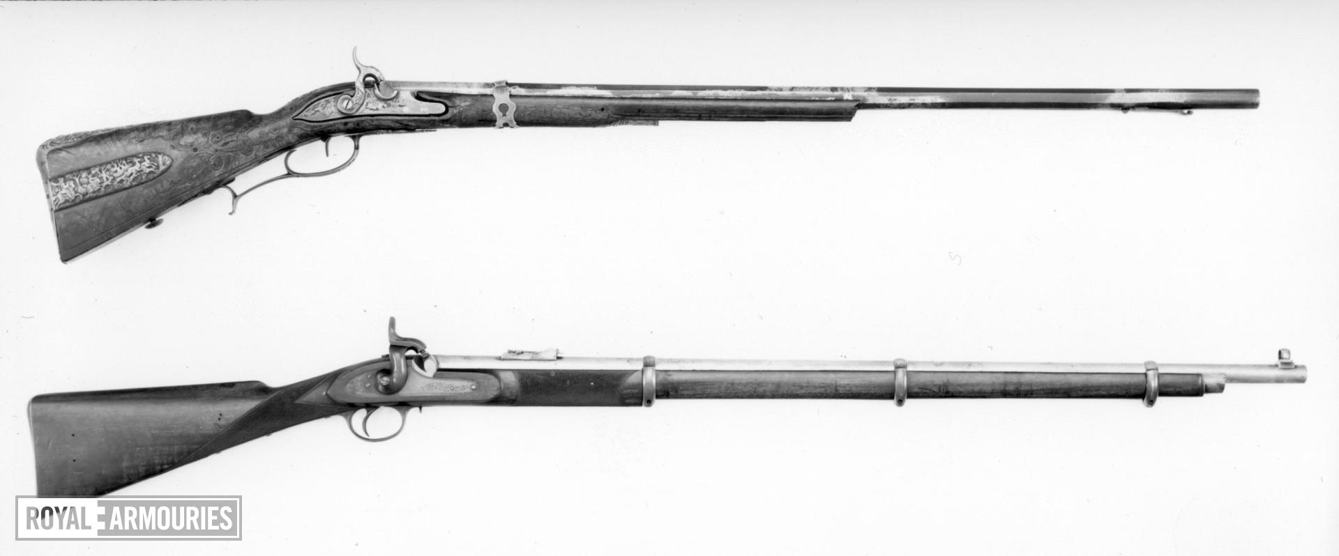 Percussion muzzle-loading rifle - Unknown