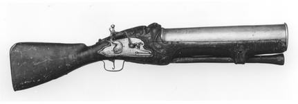 Thumbnail image of Flintlock firework gun - By James Ermendinger One of a pair see XII.3913