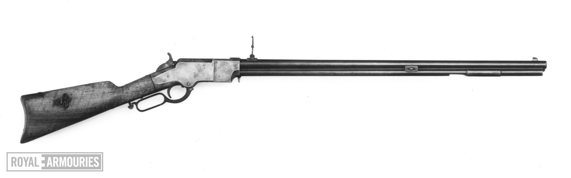 Rimfire lever-action magazine rifle Copy of a Henry Rifle
