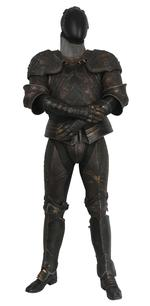 Thumbnail image of The Lord Marshal's costume from the film the Chronicles of Riddick. Ornately decorated and highly detailed. Bronze and black in appearance but made from hard rubber urethane and aluminium. II.409