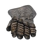 Thumbnail image of Left Glove - Left glove from The Lord Marshal's Costume Part of the Lord Marshal's costume from the film the Chronicles of Riddick. Ornately decorated and highly detailed. Bronze and black in appearance but made from leather.