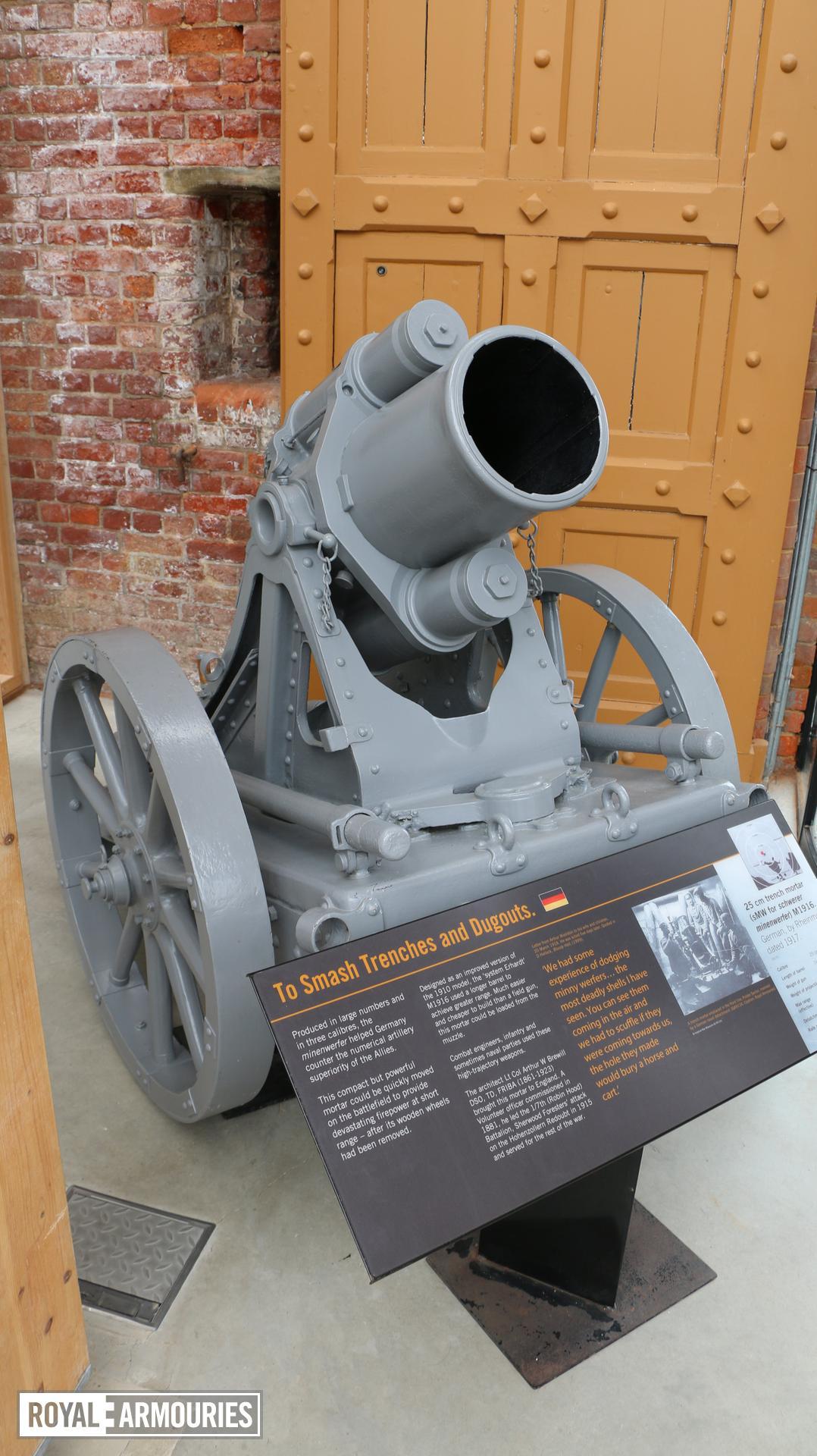 Gun - 25 cm Trench Mortar (schwerer Minenwerfer - Heavy Mine Thrower)