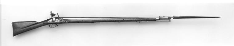 Thumbnail image of Flintlock muzzle-loading military musket - India Pattern Ring neck cock