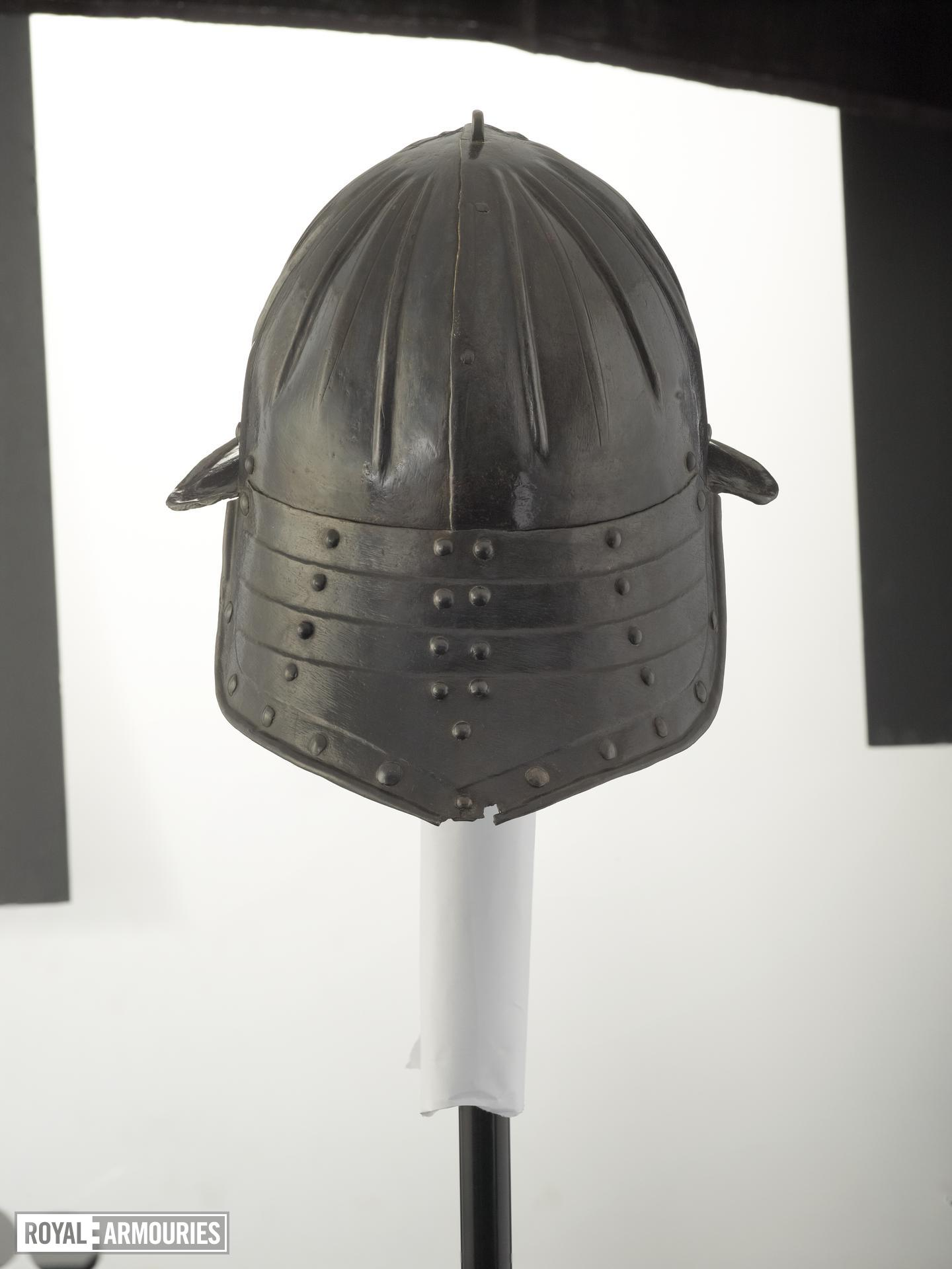 Zischagge For light cavalry use.  Of single nasal type, with a fluted skull.Littlecote collection