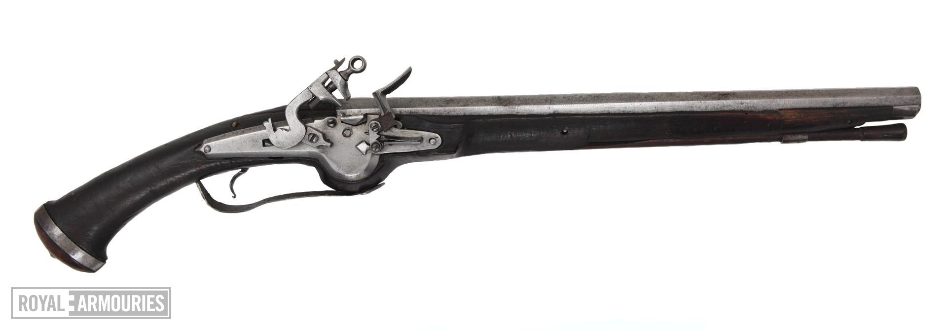 Flintlock pistol One of a pair, see XII.5459. Littlecote collection