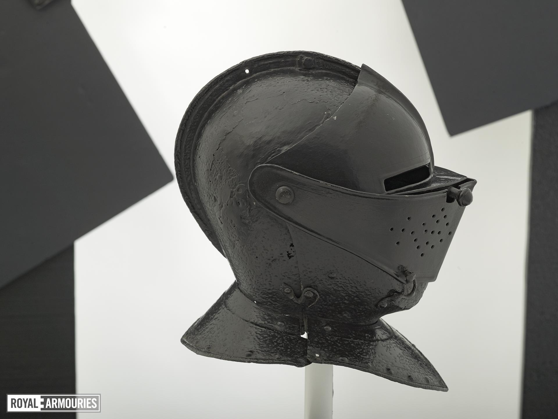 Close helmet From a cuirassier's armour. Littlecote collection
