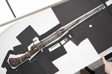 Thumbnail image of Matchlock revolver gun With shield to cylinder