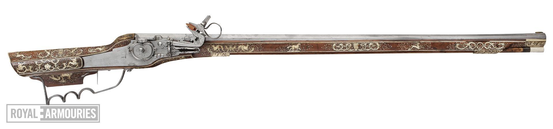 Wheellock muzzle-loading sporting rifle - Unknown