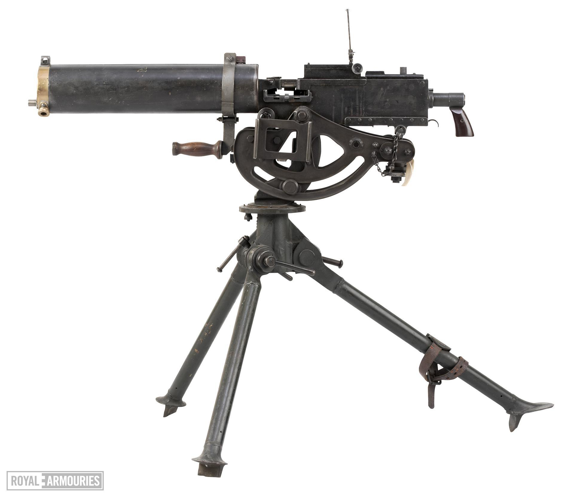 Tripod mount for a M1917A1 Browning machine gun, associated with PR.104. American, probably about 1918