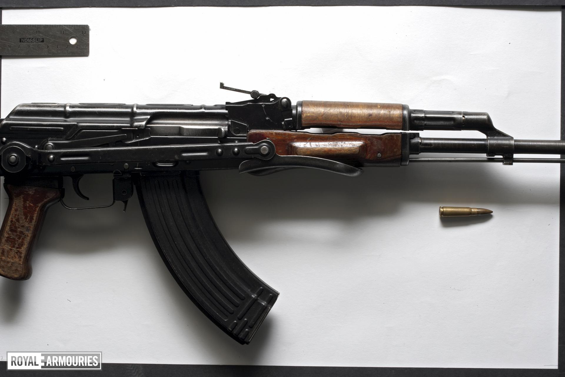 Centrefire automatic rifle - Kalashnikov AKMS Standard stamped receiver AKMS pattern rifle with folding stock.