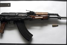 Thumbnail image of Centrefire automatic rifle - Kalashnikov AKMS Standard stamped receiver AKMS pattern rifle with folding stock.