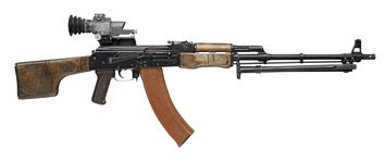 Thumbnail image of Centrefire automatic light machine gun - Kalashnikov RPK-74