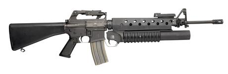 Thumbnail image of Centrefire automatic rifle - Colt Armalite Model 03 / 603 M16A1 Colt manufactured M16A1 fitted with M203 grenade launcher.