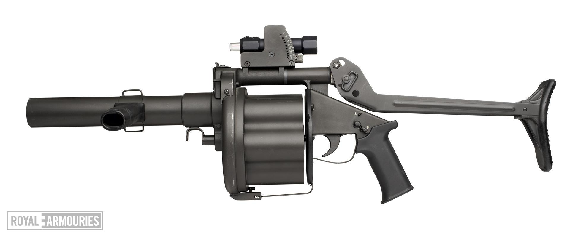 Centrefire six-shot repeating grenade launcher - Mechem MGL