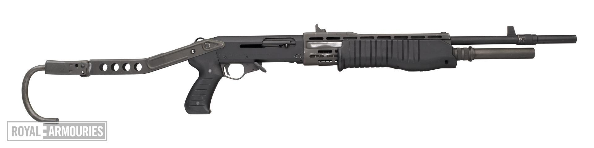 Centrefire self-loading shotgun - Franchi SPAS-12 Can be operated as a pump action or a self loading action shotgun