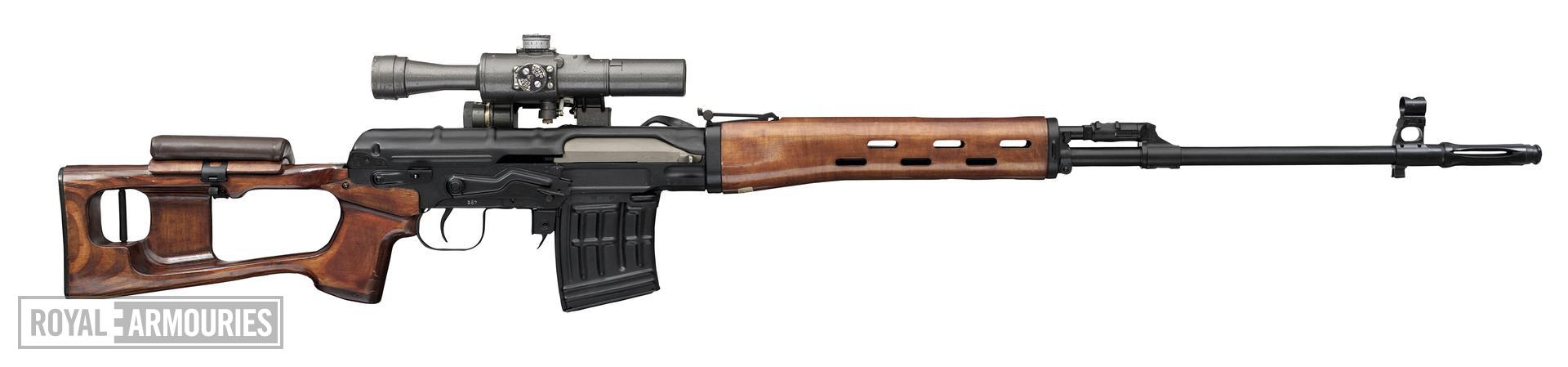 Centrefire self-loading rifle - Dragunov SVD With scope, No. N54694