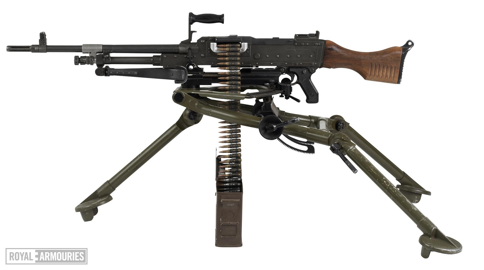 Centrefire automatic machine gun - FN MAG58 By Fabrique Nationale, Herstal, Liege