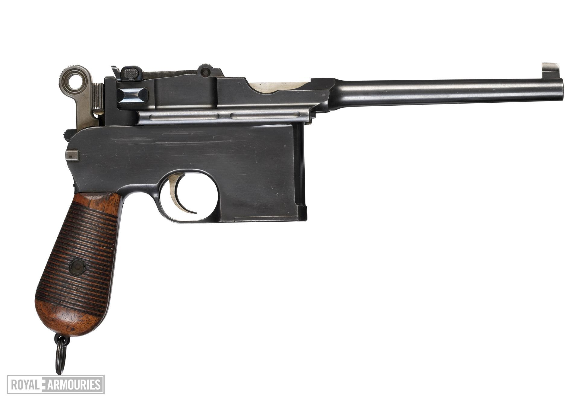 Centrefire self-loading pistol - Mauser C96 Centrefire self-loading pistol, Mauser C96, Germany, 1900.