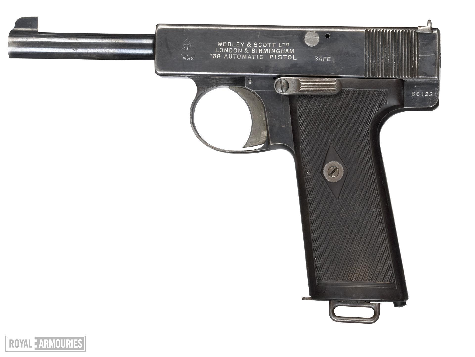 Centrefire self-loading pistol - Webley and Scott Model 1910