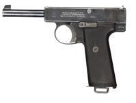 Thumbnail image of Centrefire self-loading pistol - Webley and Scott Model 1910 Type III, made December 1911