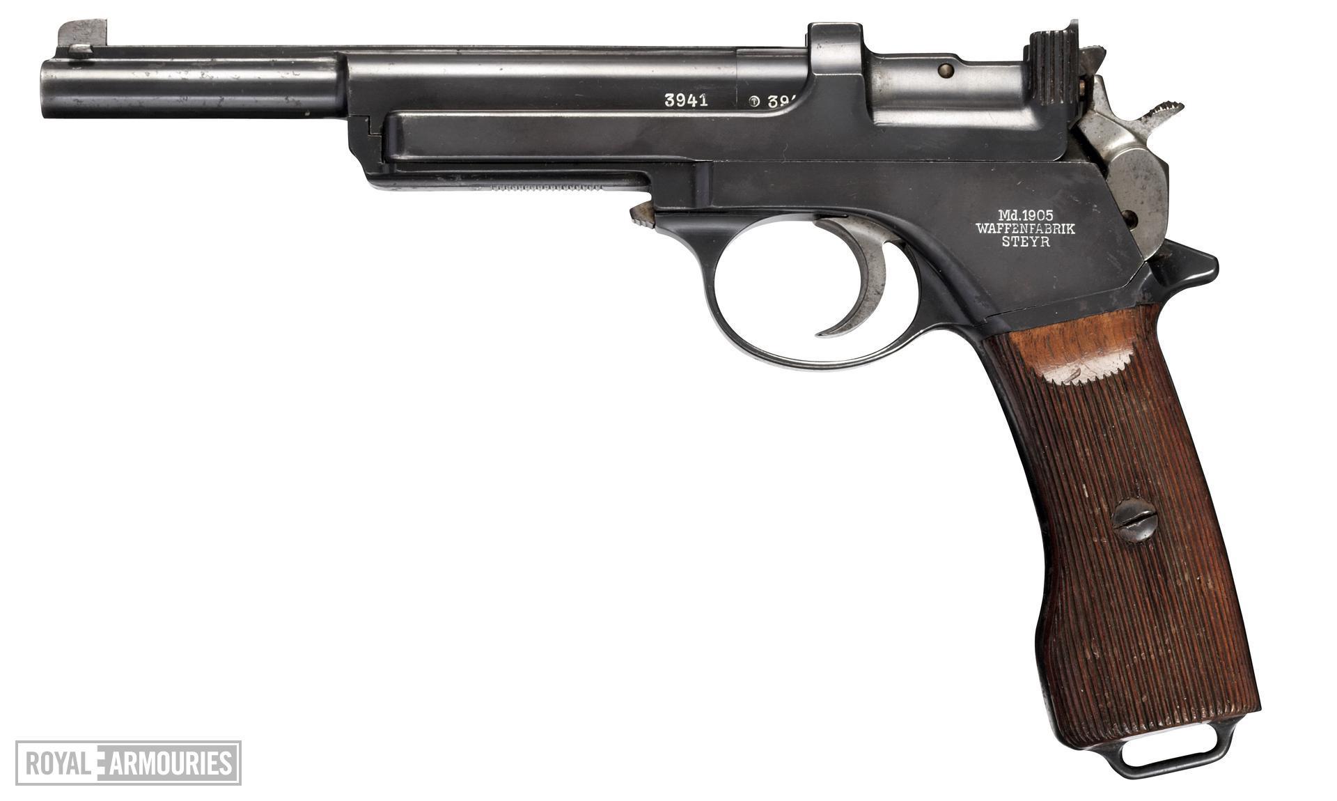 Centrefire self-loading pistol - Mannlicher Model 1905