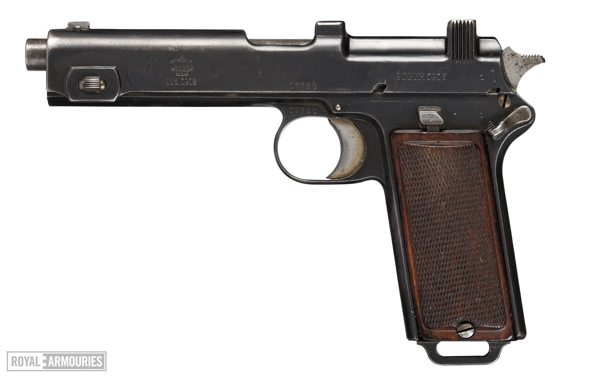 Steyr Hahn Model 1912 pistol, Austrian