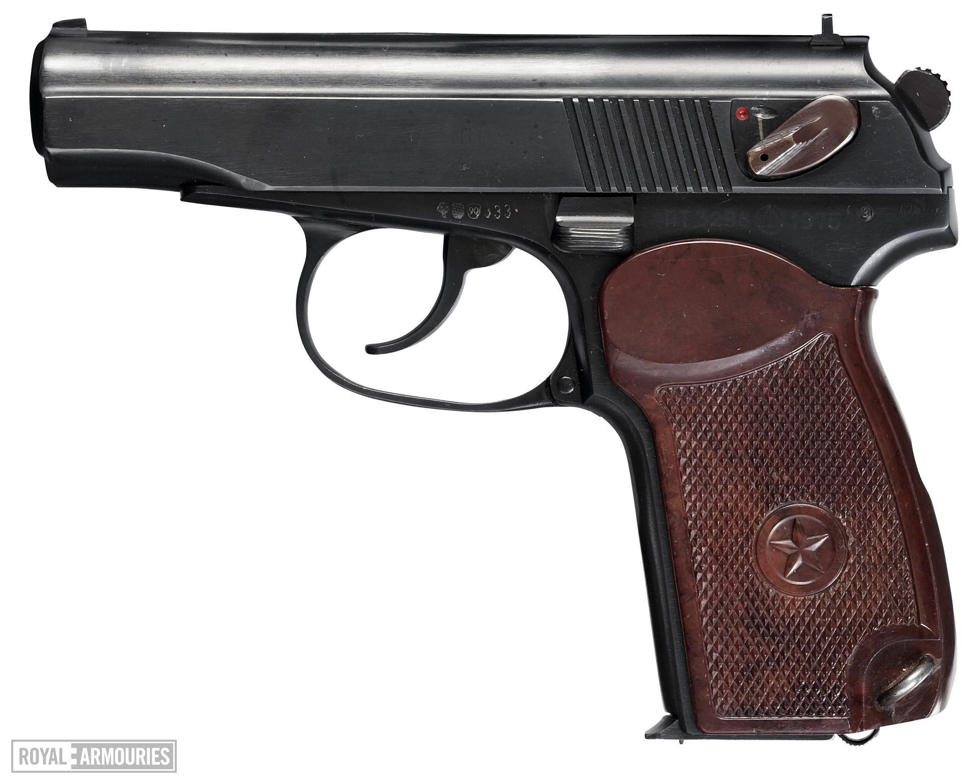 Centrefire self-loading pistol - Makarov PM Centrefire self-loading pistol, Makarov PM, Russia, dated 1975
