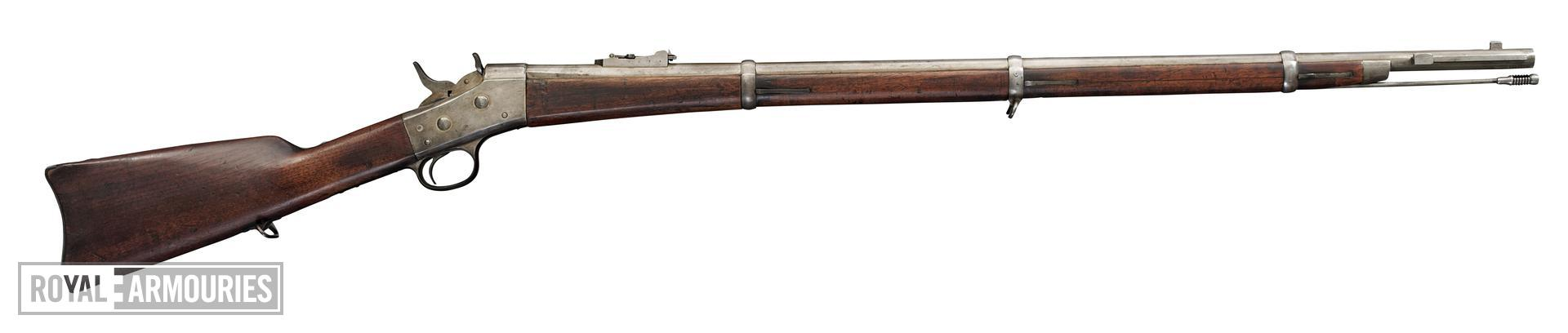 Centrefire breech-loading rifle - Remington With rolling block action