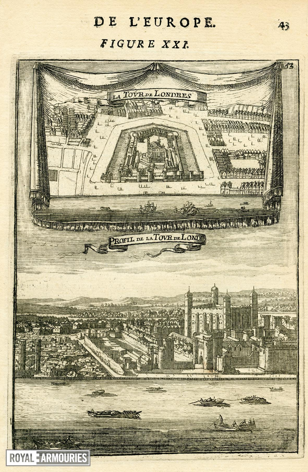 Tower of London plan and view