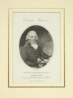 Thumbnail image of Print engraved portrait of Thomas Astle, keeper of the Record Office in the Tower, 1802.