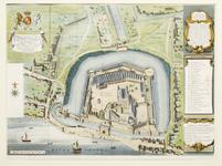 Thumbnail image of Engraving copper engraving, coloured, of the 1597 plan of the Tower by by Hayward and Gascoyne.