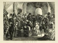 Thumbnail image of Engraving Titled 'Holiday time at the Tower'; from The Graphic, December 30th, 1871.