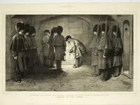 Thumbnail image of Engraving Titled 'Locking up the Tower'; from The Graphic, January 30th, 1875.