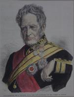 Thumbnail image of Engraving Portrait of the Constable of the Tower, Field Marshal Sir G Pollock. Extracted from the Illustrated London News and hand coloured.
