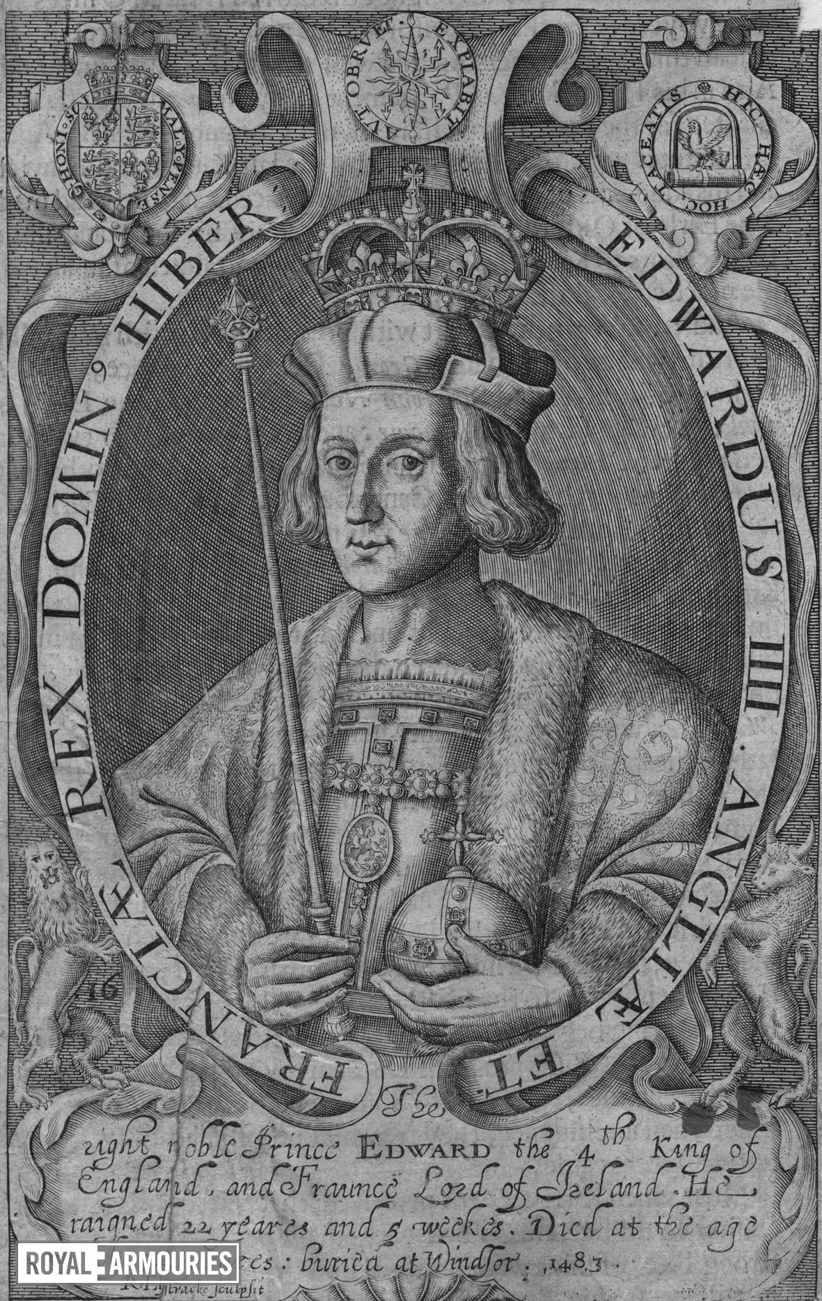 Print Engraved portrait of Edward IV.