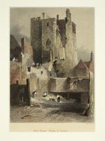 Thumbnail image of Print Hand-coloured steel engraving:  The Salt Tower, by J. W. Archer, about 1846.