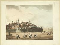 Thumbnail image of Print View of the Tower of London from the north-east, Coloured aquatint dated 1809.