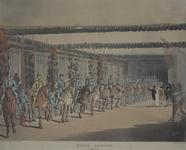 Thumbnail image of Print Coloured Aquatint:  The Horse Armoury in the Tower, by Rowlandson and Pugin.
