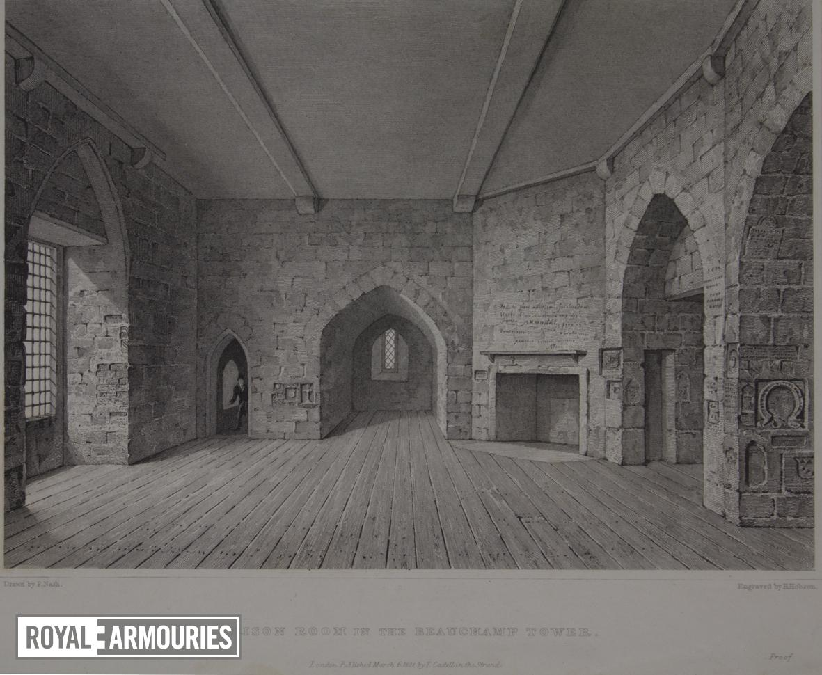 Print 'Prison Room in the Beauchamp Tower', Tower of London.