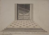 Thumbnail image of Drawing The Staircase in the Grand Storehouse, Tower of London.