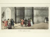Thumbnail image of Print Coloured lithograph, entitled: 'La Tour (Galeries des Fusils)', about 1830.