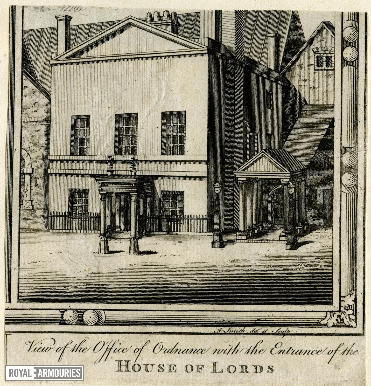 Print VIEW OF THE OFFICE OF ORDNANCE ...