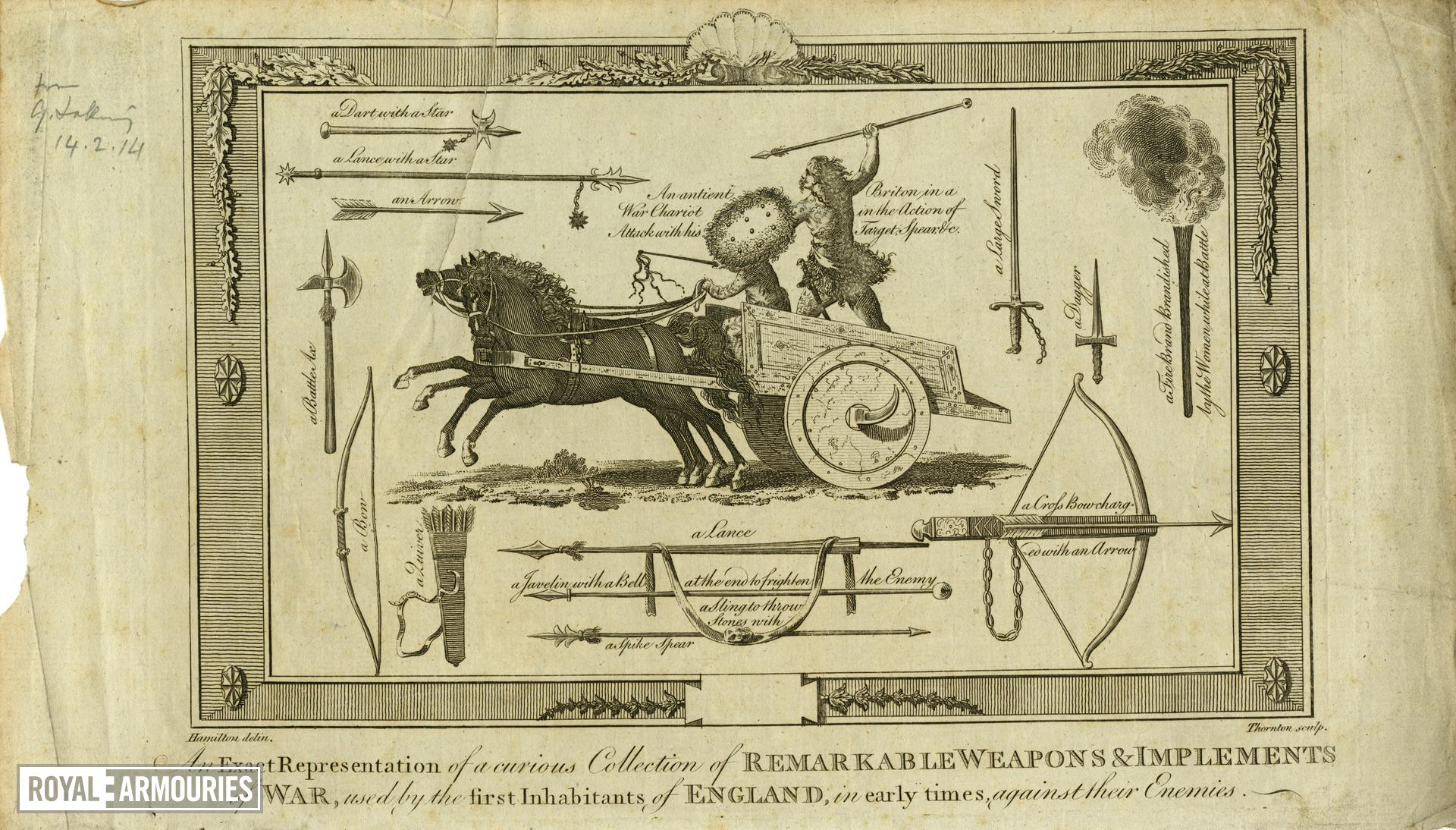 Print 'An exact representation of a curious collection of remarkable weapons and instruments of war'