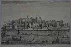 Thumbnail image of Print Engraving:  The Tower of London, abt. 1739.