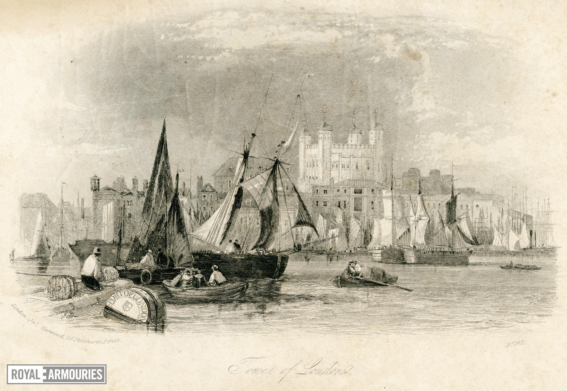 Print Steel engraving: The Tower of London