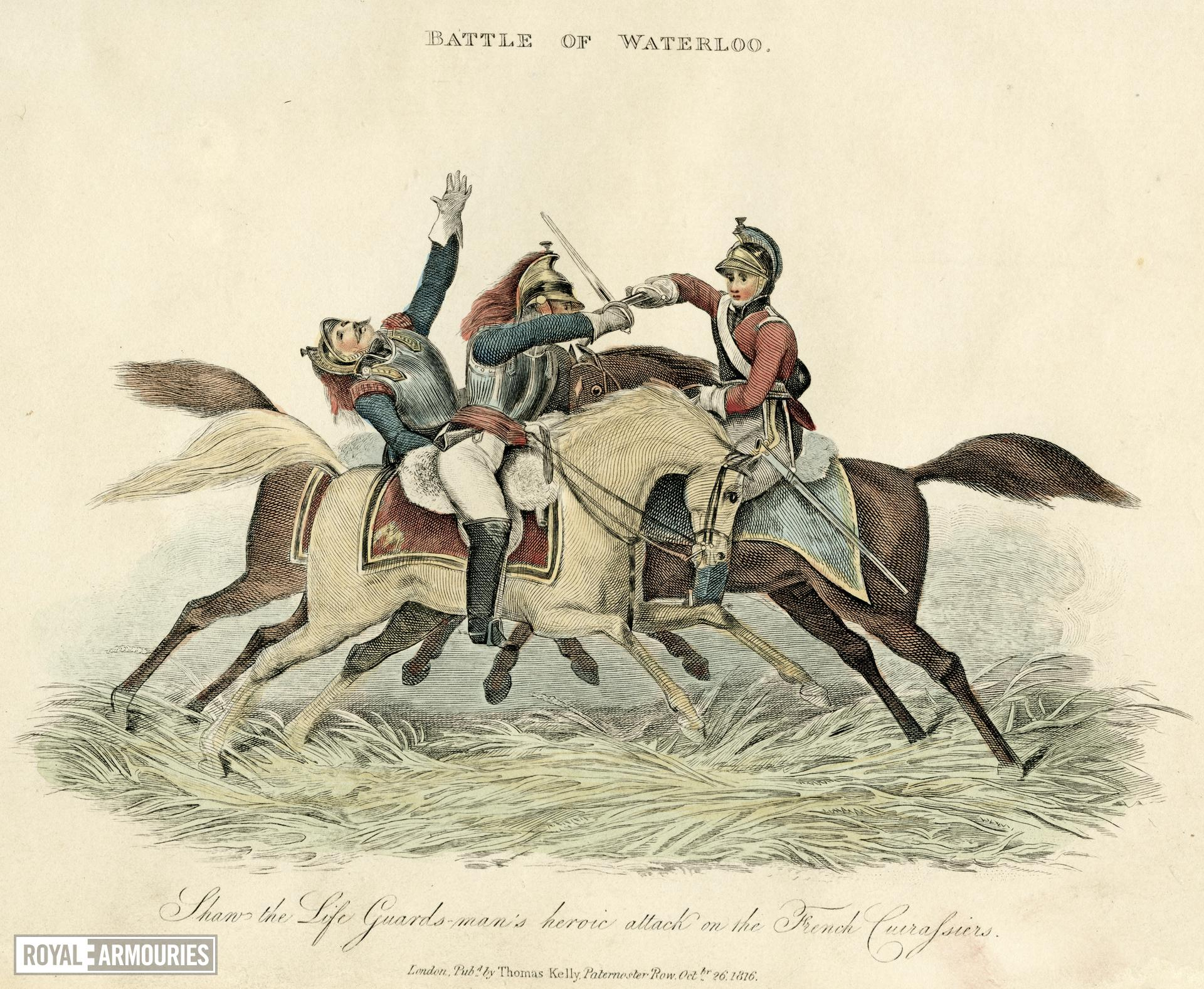 Print Corporal Shaw at Waterloo