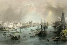 Thumbnail image of Print Untitled view of the Pool of London, including the Tower of London from the south-west.