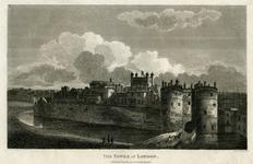 Thumbnail image of Print 'The Tower of London', showing the bridge over the moat and the entrance through the Byward Tower, 1802.