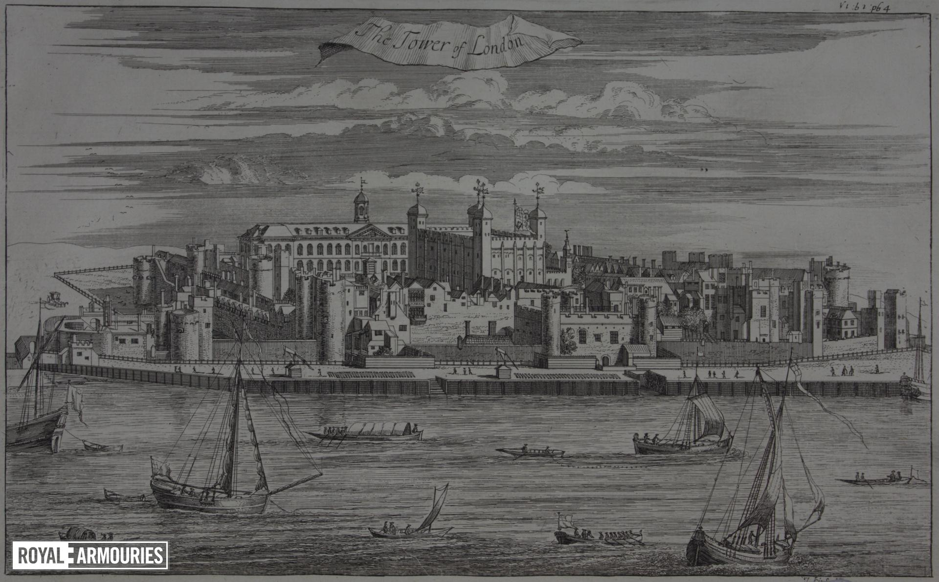 Print 'The Tower of London', about 1720