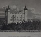 Thumbnail image of Print 'White Tower from Beauchamp Tower', Tower of London, dated 1806.